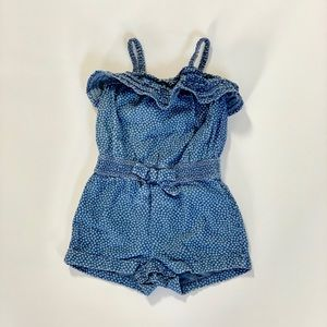 Genuine Kids Chambray Dotted Romper